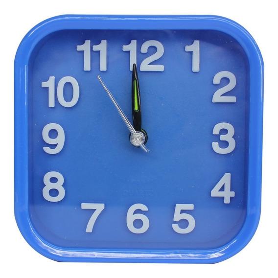 Reloj Despertador Buro Cuadrado Pila Incluida 10x10x6 Cm