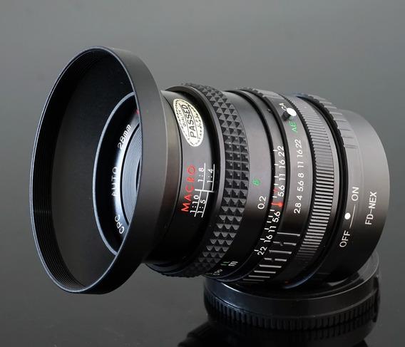 Lente 28mm Cpc Macro(panagor)+adaptad. Sony E-mount\nex