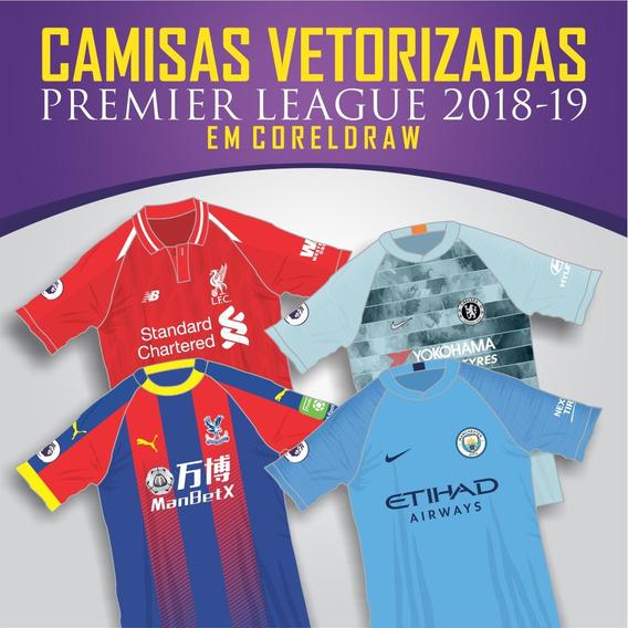 Vetores Coreldraw Camisas Premier League 2018/19