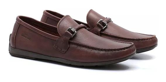 Sapato Masculino Samello Loafer Tustin Couro Café