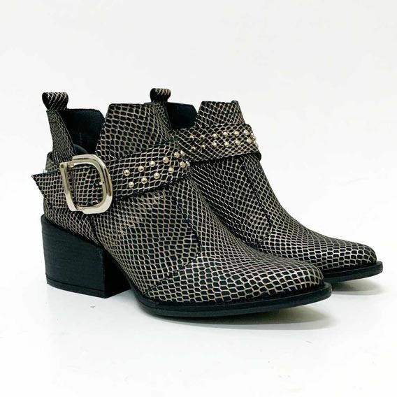 Bota Botineta Mujer Texana Zapato Mujer