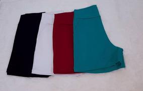 Kit 2 Shorts Plus Size Em Bengaline Cintura Alta Verão 2019