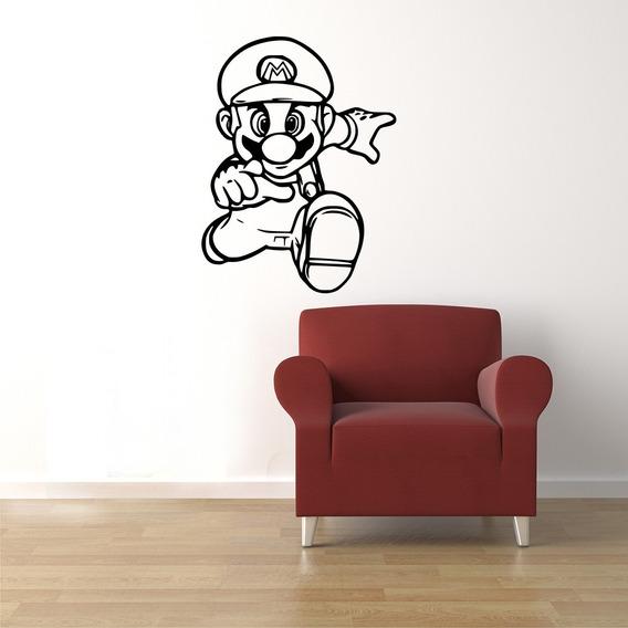 Adesivo De Parede Vinil Auto Adesivo Contact Lavável Decorativo Para Sala De Jogos Infantil Mario Games Jogo