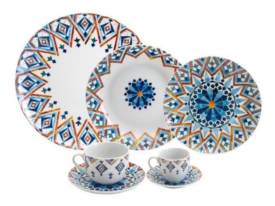 Ap De Jantar 42 Pcs De Porcelana Super White Marrakesh