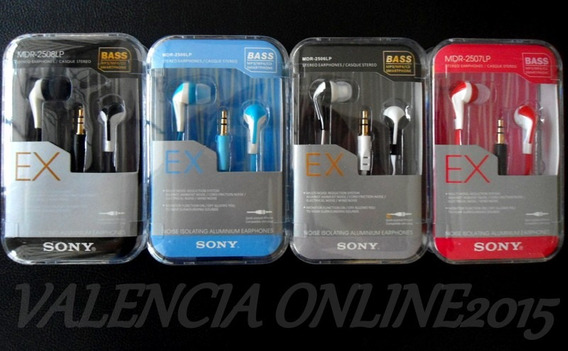 Audifonos Sony Stereo 3.5mm Mp4 Mp3 Smartphone Laptops Y Mas