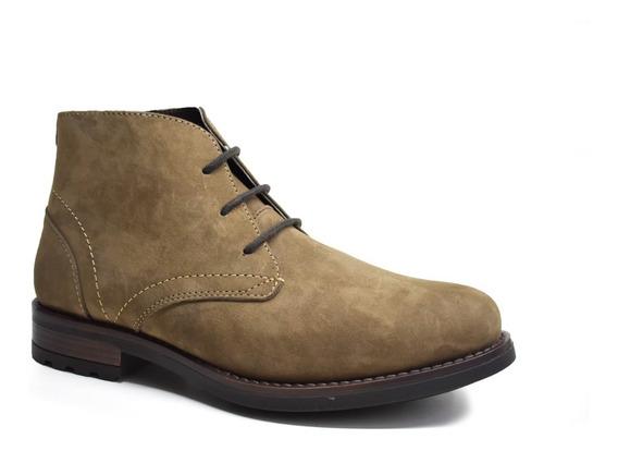 Botin De Hombre Piel Desert Boot Comodo Giusto 15001