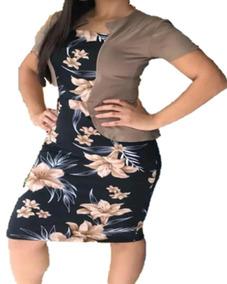 Vestido Moda Evangélica Casaco Sobre Posto Roupas Feminin