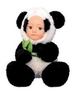 Boneca Pelúcia Zoo Fofura Panda 20cm Fênix