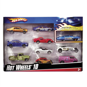 Pacote Com 10 Carrinhos Hot Wheels 54886 Mattel