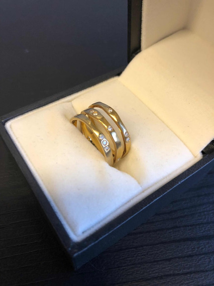 H. Stern: Anel Em Ouro Amarelo 18k E Brilhantes