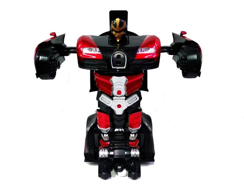Carro A Control Remoto Transformer Obsequio Pilas Rojo