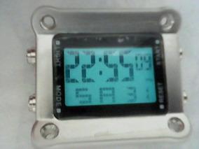 Caixa Display Relógio Nike Hammer Cromado Pronta Entrega