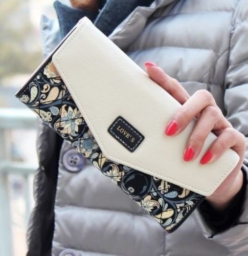 Billetera Mujer Celular Smartphone Tarjetas Grande Stock