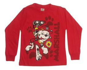Kit C/ 3 Camisetas Manga Longa Infantil Patrulha Canina Frio