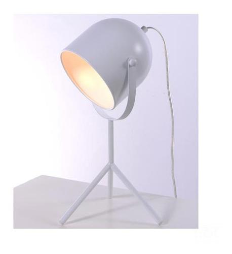Luminária De Mesa Ava Tubular Branca - Ol