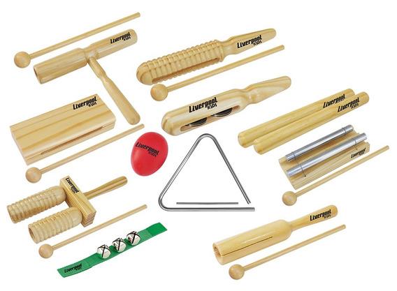 Kit Musicalização Infantil Liverpool Kids 11 Instrumentos