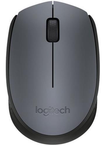 Mouse Logitech Wireless Sem Fio Cinza M170