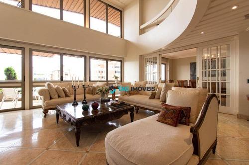 Apartamento Duplex Com 5 Dormitórios À Venda, 561 M² Por R$ 5.000.000,00 - Cambuí - Campinas/sp - Ad0043