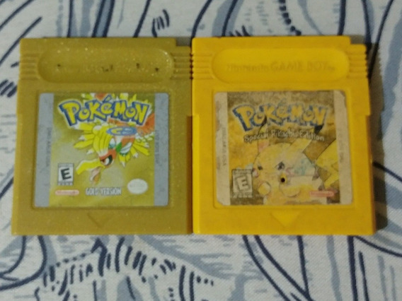 Pokemon Gold E Pokemon Yellow Originais Americanos!!
