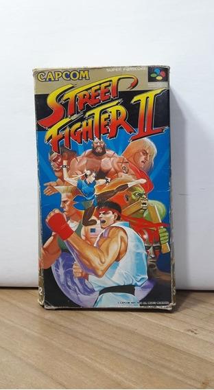Street Fighter 2 Caixa E Fita Super Famicom Original
