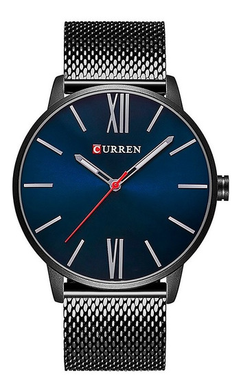 Reloj Curren Caballero Análogo Casual Ejecutivo Porta Negro
