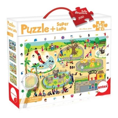 Puzzle 36 Piezas 3033 Monstruos Ciudad Zoo Transporte Edu