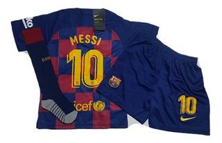 Kit Infantil + Meião 2020 Messi Pronta Entrega Promoção