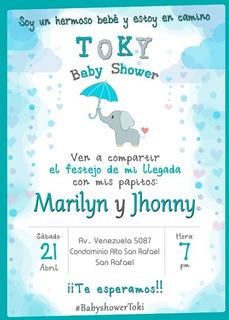 Tarjetas De Invitacion Baby Shower Personalizada En Mercado