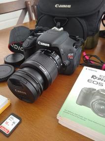 Câmera Canon Eos Rebel T3i Lente 18-55mm