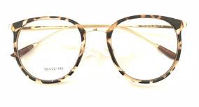 5672cdaf2 Óculos Redondo Onça De Grau - Óculos Marrom no Mercado Livre Brasil