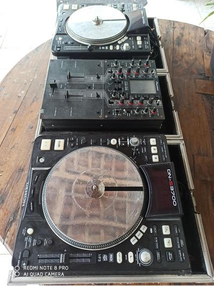 Par De Cdj Denon Dns 3700 + Mixer Pioneer Djm 909