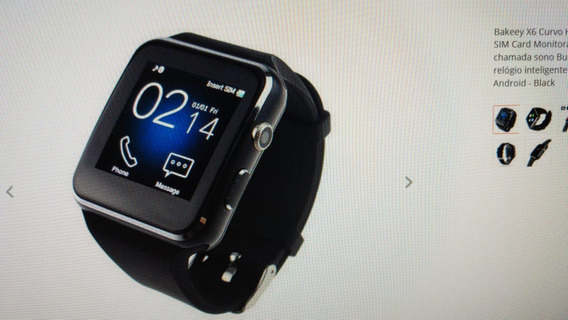 Smart Watch Tela Curva Camera Hd - Bakeey X6