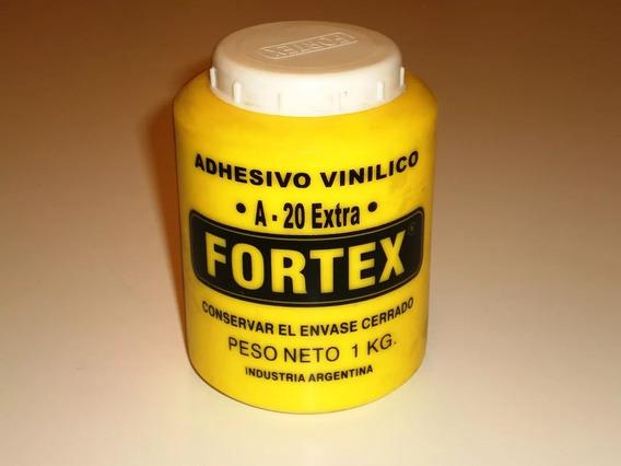 Adhesivo Vinilico Cola Vinilica Fortex A-20 X 1kg X Unid