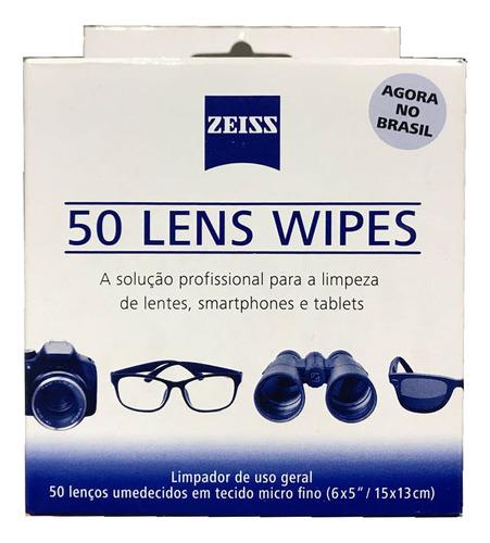 Kit Lens Wipes Zeiss Com 200 Lenços Umidecidos