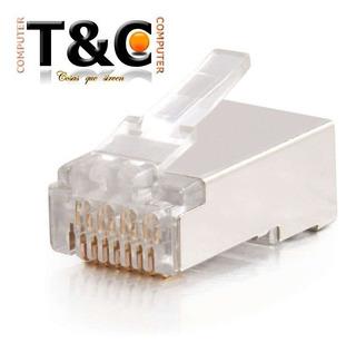 100 Conectores Rj-45 Blindado Para Cable De Red Cat 5e