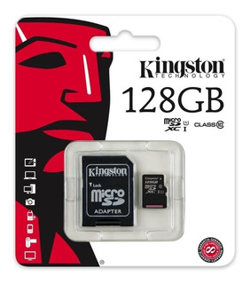 Memoria Micro Sd 128gb Kingston Clase 10 Celulares Camaras