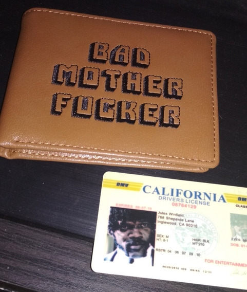 Cartera Bad Mother Fucker - Pulp Fiction - Original - Piel.