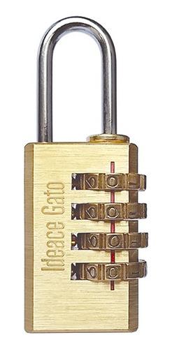 Candado Con Clave (4 Diales) Ref.7cm21 Ideace
