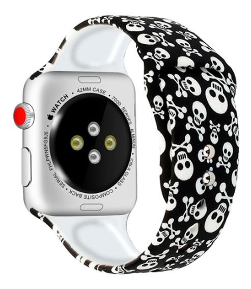 Pulseira De Silicone Sport Compatível Apple Watch Iwo Serie