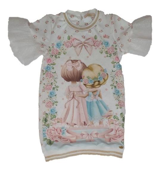 Vestido Infantil Petit Cherie Com Strass Organza Chic 142