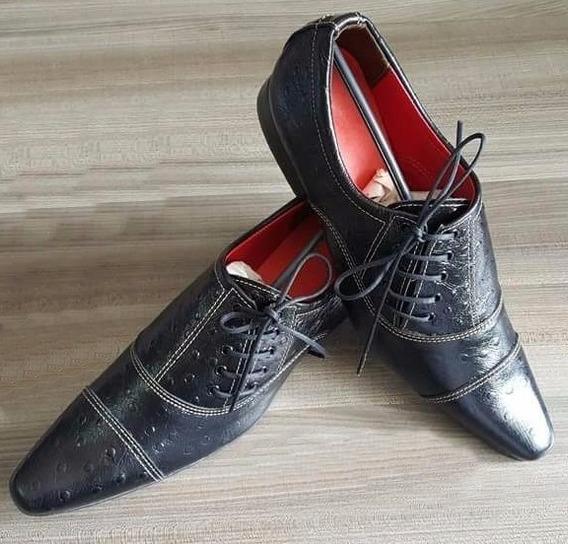 Sapato Social Masculino Bico Fino Couro Legitimo