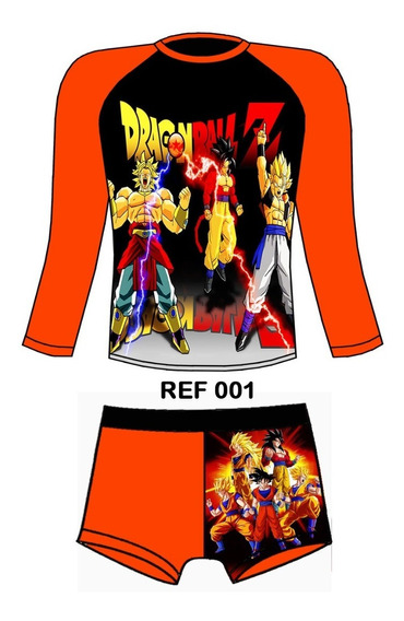 Traje De Baño Proteccion Uv Dragon Ball
