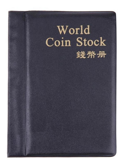 Coin Album Books 120 Pockets Pu World Coin Album Capa Coleçã