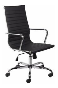Cadeira Escritorio Andorra Presidente Preta Relax Recouro Pu