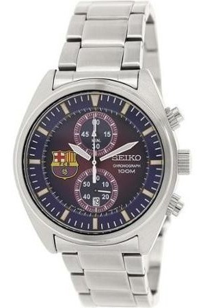 Reloj Seiko Barcelona Fútbol Club Cronógrafo Acero Inox. New