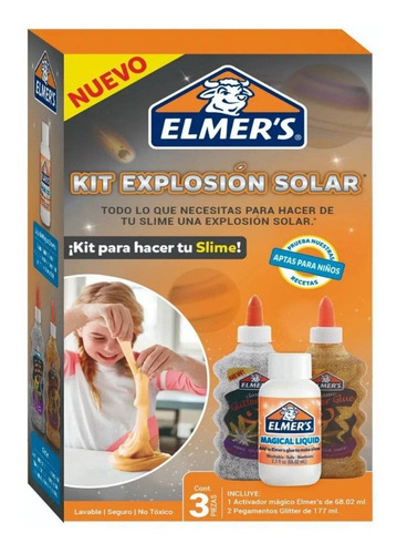 Imagen 1 de 4 de Super Kit Slime Elmer's Explosion Solar No Toxico