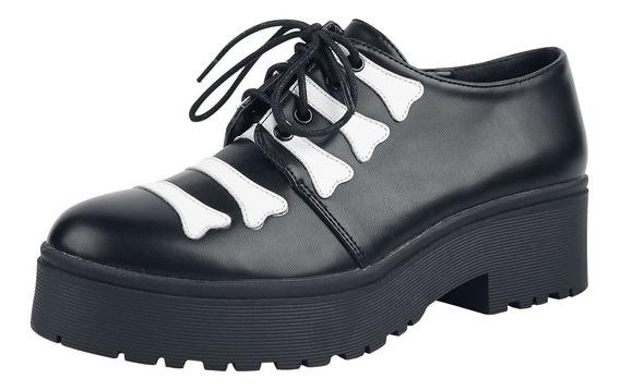 Iron Fist Huesos, Calavera, Rock, Goth Unisex Zapatos!!!