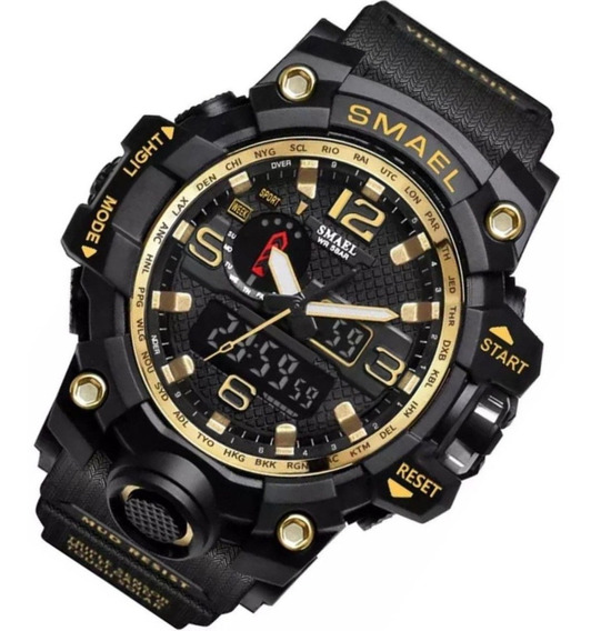 Relógio Masculino Smael 1545 Militar Shock Prova D