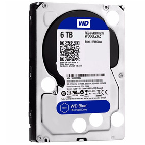 Wd Disco Duro Western Digital Blue, 6tb, Sata 6 Gb/s, 5400 R