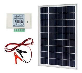 Kit De Panel Solar 25w Policristalino + Controlador Carga 3a